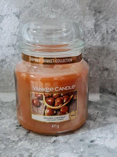 Svíčky střední kulaté 411 g - Golden Chestnut