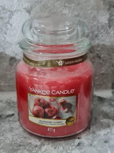 Svíčky střední kulaté 411 g - Roseberry Sorbet
